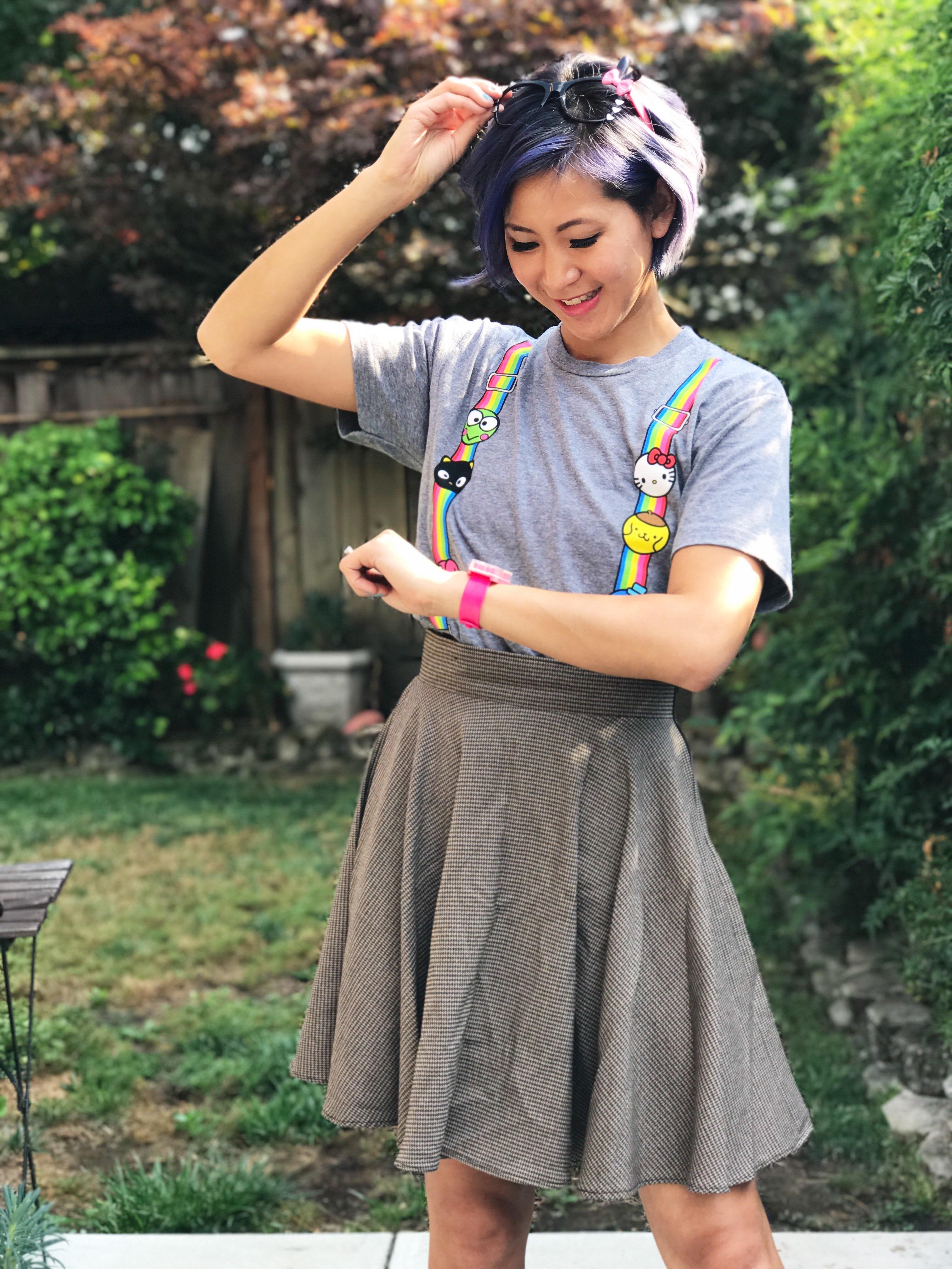 Cute Geeky Sanrio Nerdy Outfit