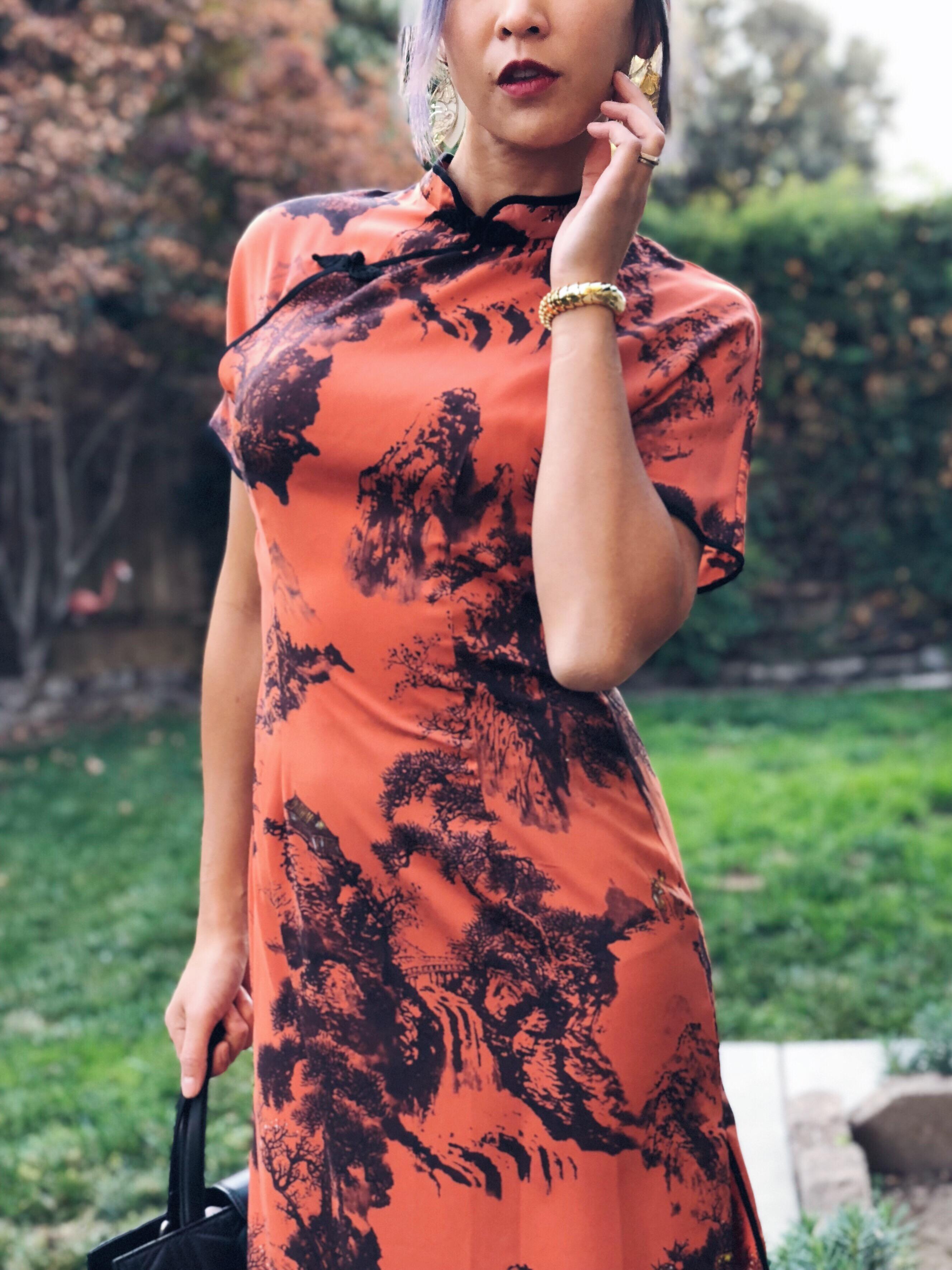 Zara Orange and Black Halloween Dress